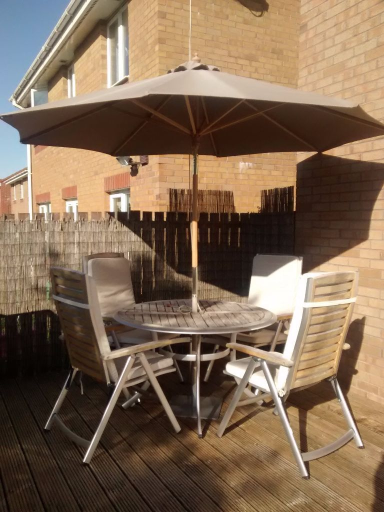 Complete \'Homebase\' Wooden/Aluminium garden furniture set | in ...