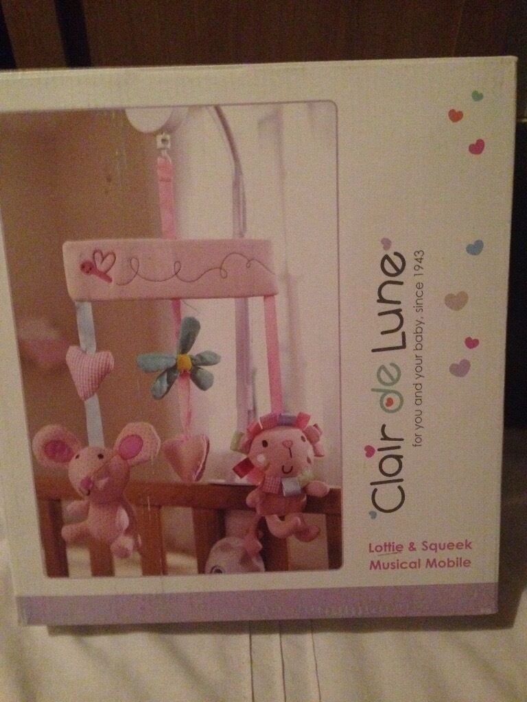As New Clair de lune baby Musical Mobilein Hull, East YorkshireGumtree - My daughter doesnt sleep in her cot and has had hardly any use out of this, In great working order, in original box. From a smoke free and pet free home