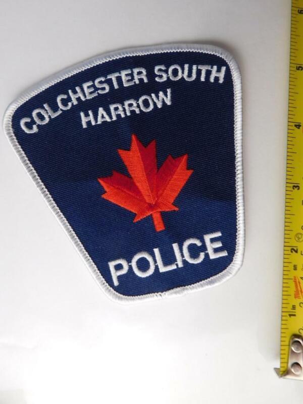 COLCHESTER SOUTH HARROW POLICE VINTAGE PATCH BADGE ONTARIO CANADA  COLLECTOR