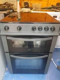 Double oven seramic top 60cm cooker