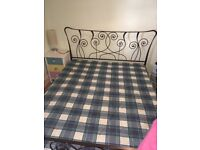 Metal Frame king size double bed with mattress