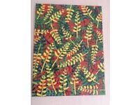 Original hand painted fern design artwork on canvas