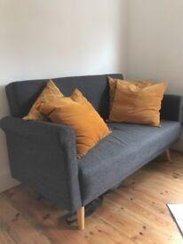 Argos retro style 2 seater sofa brand new