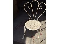 3 French wrought iron chairs