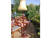 Vintage lamp, Wooden