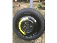 Brand new space saver wheel and tyre