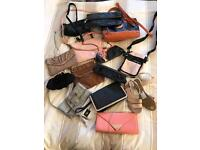 Collection of Ladies bags and shoes