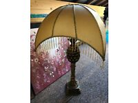 STUNNING ART DECO STYLE LAMOS WITH DOME SHADES (2 AVAILABLE) IN EXCELLENT CONDITION