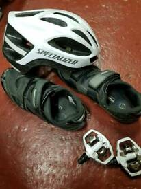 SPD clip in Shoes & pedals size 12 47 euro