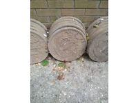 circular stepping / paving stones
