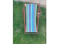 Kids Wooden Deck Chair Sun Louger-Garden,Beach