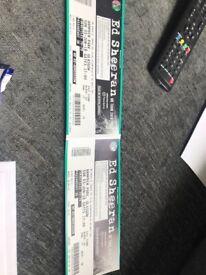 2 ed Sheeran tickets