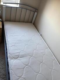 Metal frame and mattress hardly used