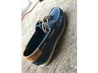 Royal blue men's boat shoes - size 8