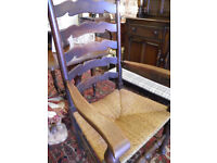 GORGEOUS EDWARDIAN OAK FRAMED ELBOW CHAIR - WE CAN DELIVER
