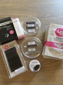 individual lash items, lashes glue eye pads