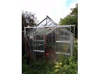 Glass and Aluminium Greenhouse