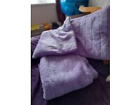 Bed throw and pillows