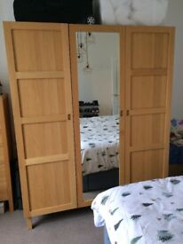 Three-door wardrobe with full-length mirror from Habitat, excellent condition