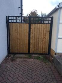 Metal wooden gate