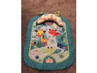 Tummy time mat and pillow - Bright stars