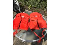 2 extra large bouancy aids (life jackets)
