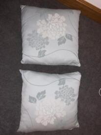 Duck egg blue floral cushion - Laura Ashley style