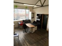 Bright Studio available to rent with separate open plan space with Mezzanine