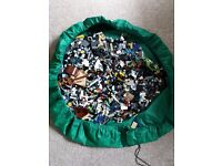 6kg of Assorted Lego with drawstring storage bag/playmat
