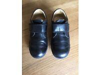 Geox William Black School Shoes