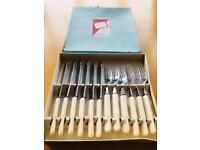 John Watts (Sheffield) set of fish cutlery