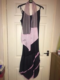 Black and pink cocktail dress size 12
