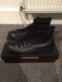 Converse leather Mono Black UK size 5.5