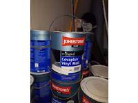 Paint Johnstones covaplus vinyl matt 11 5 litre cans but its brown need gone asap.