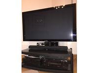Atacama TV Stand TL Black and Black Glass