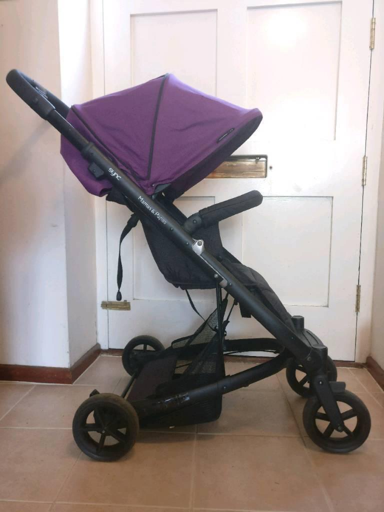 Purple Mamas & Papas 'Sync' Pushchair