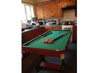 6ft children's snooker/pool table