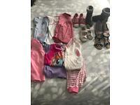 Girls clothes shoes bundle age 3-4