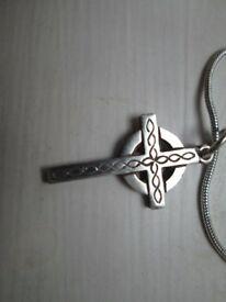Silver Celtic cross pendant