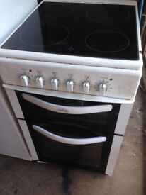 White Electric cooker 50cm...Free delivery