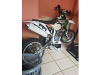Ktm 525 registered as a 250 its been use of road swap for a nice car or van or cbr