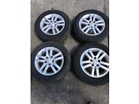 VW Golf Mk5 AUDI A3 SKODA Alloy And Tyres 195/65R15