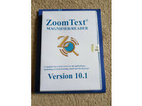 Zoomtext 10.1 Magnifier / Reader software!