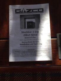 Gazco Stockton 5 gas fire ( looks like log burner)