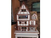 Tudor style dolls house 1/12th scale a unique hand crafted house for the collector