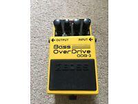 Boss ODB-3 Bass OverDrive Distortion Effects Pedal - Bass Guitar
