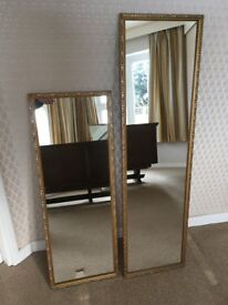 Matching Pair of Framed Wall Mirrors