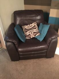 Electric recliner brown arm chair