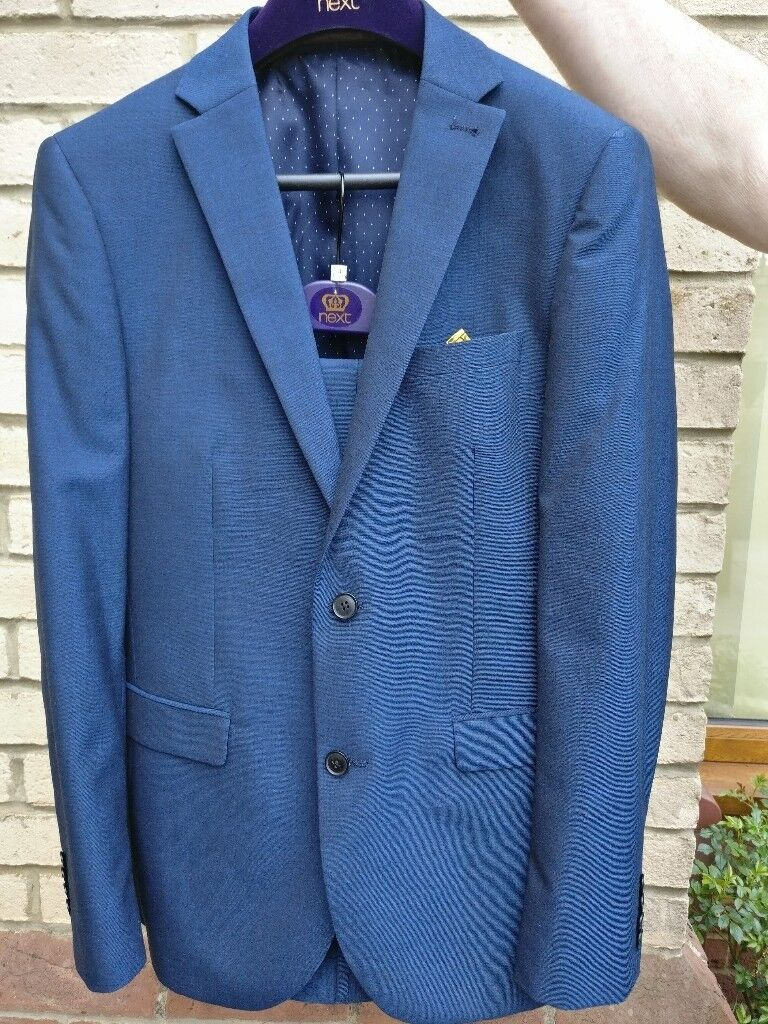 GENTS PROM SUIT FROM NEXT IN TRENDY BLUE COLOUR | in Dereham ...