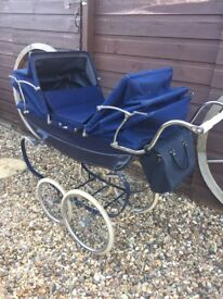 Rare double Silver cross dolls pram